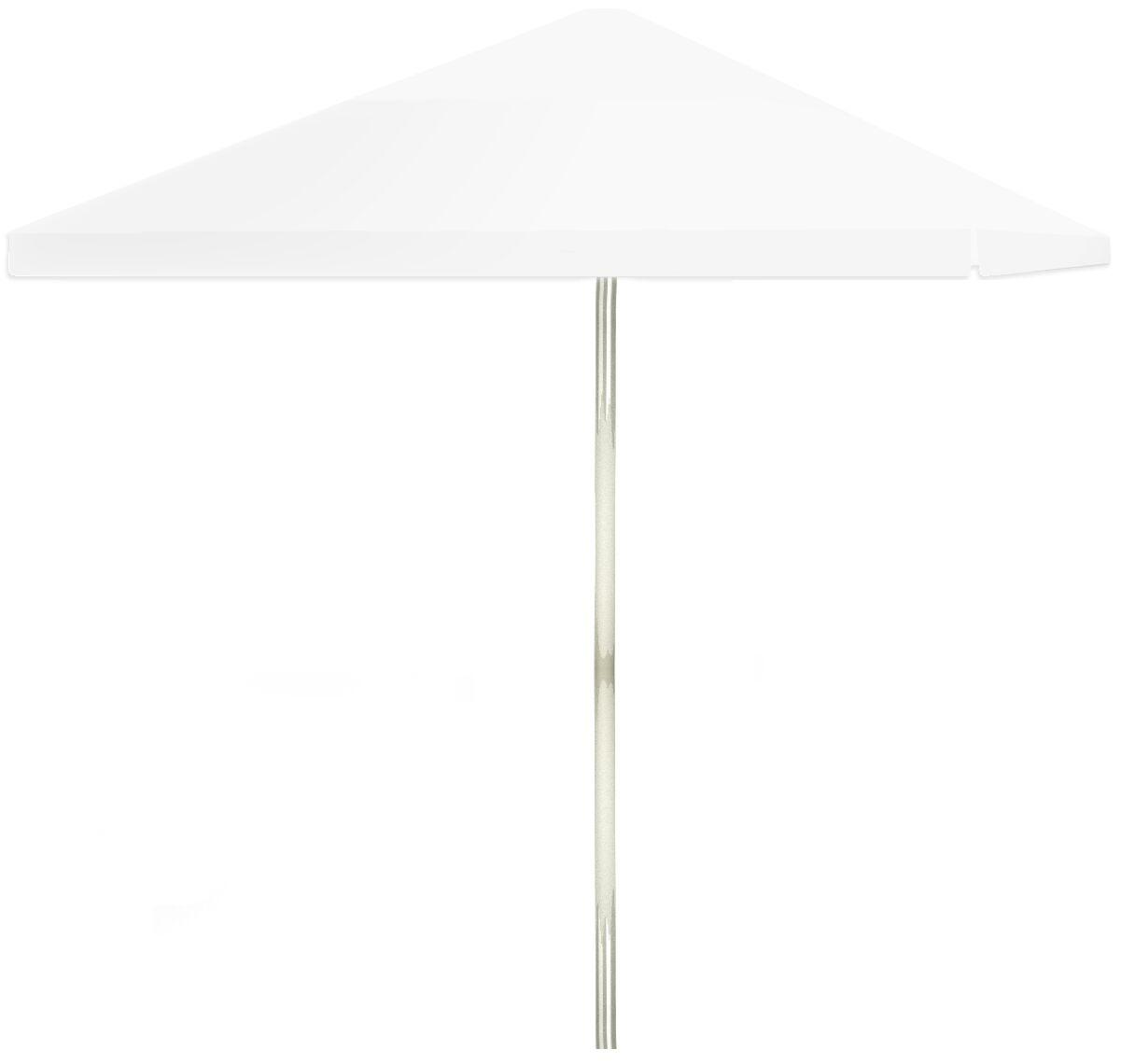 6' Square Market Umbrella Color: White