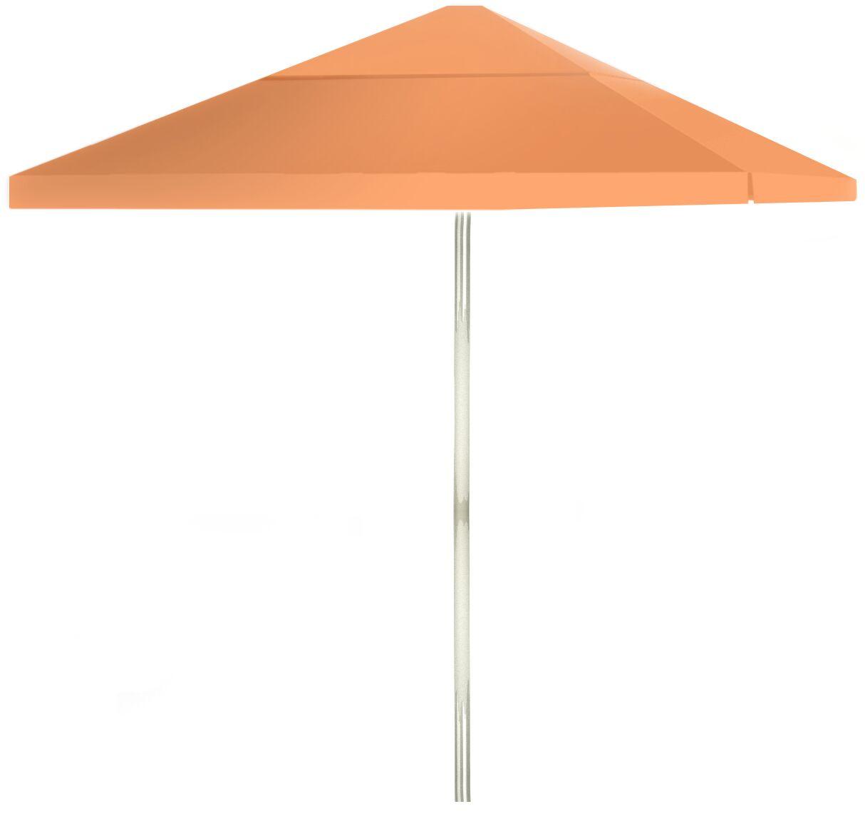 6' Square Market Umbrella Color: Peach