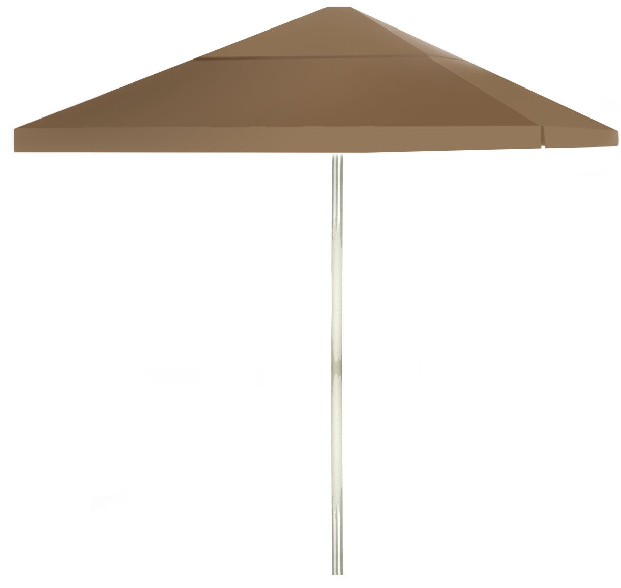 6' Square Market Umbrella Color: Light Brown