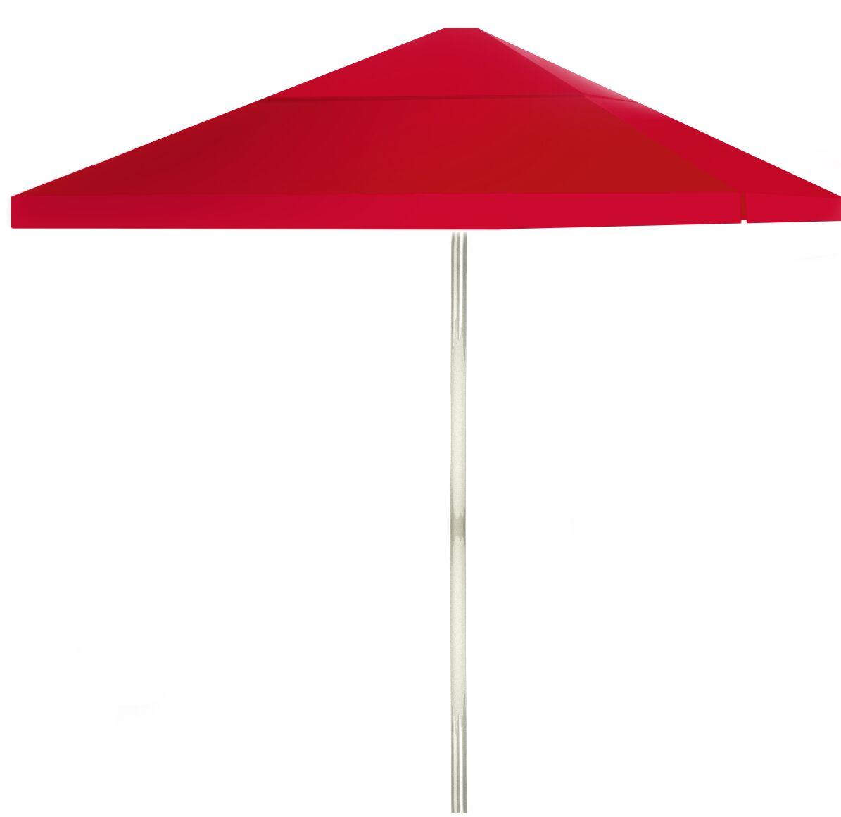 6' Square Market Umbrella Color: Red