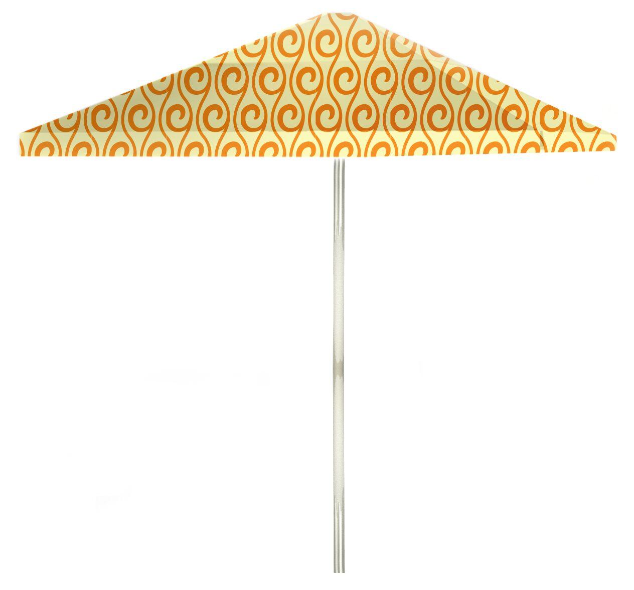 6' Square Market Umbrella Color: Toasted Sunshine