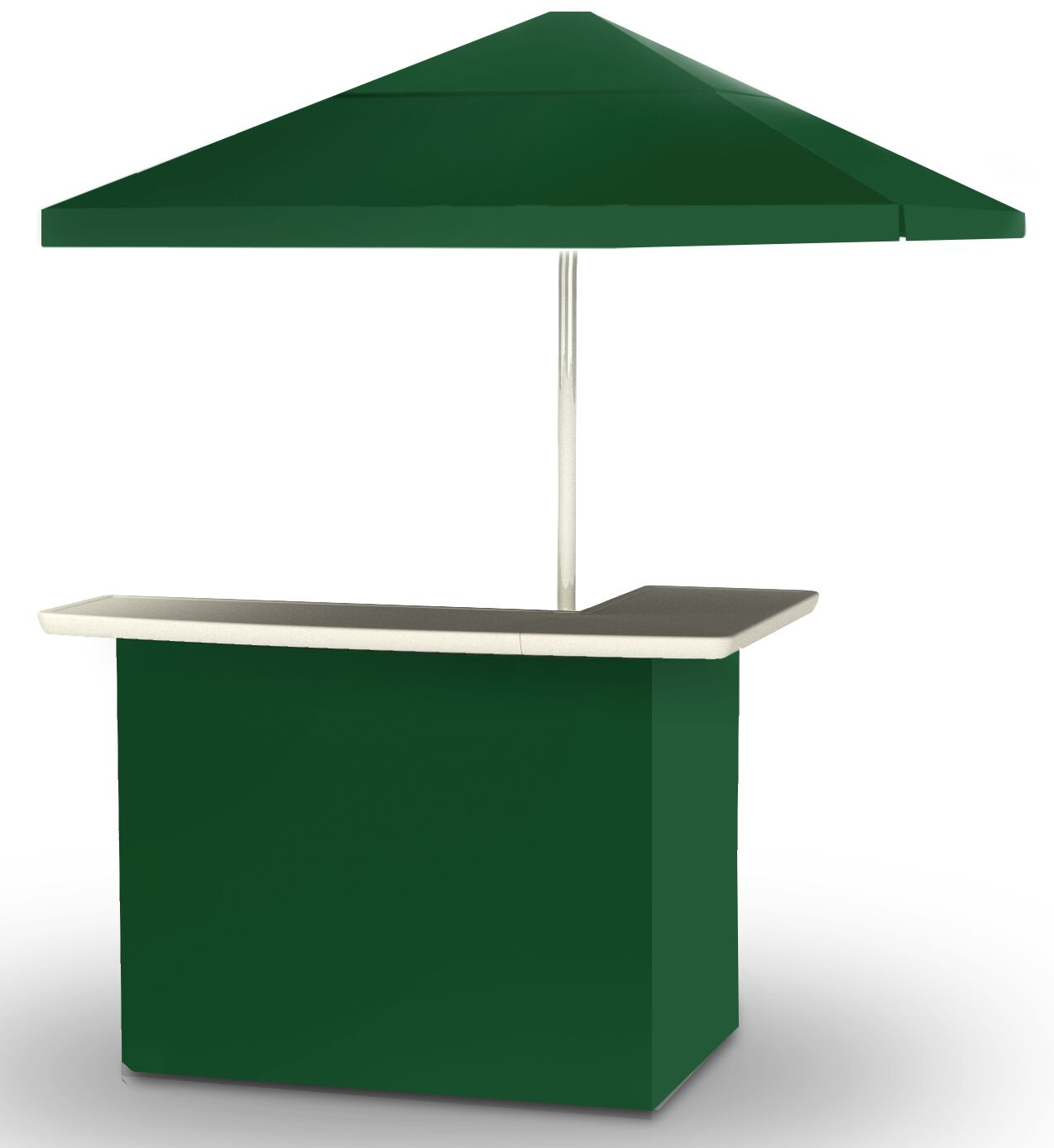 2 Piece Patio Home bar Finish: Green