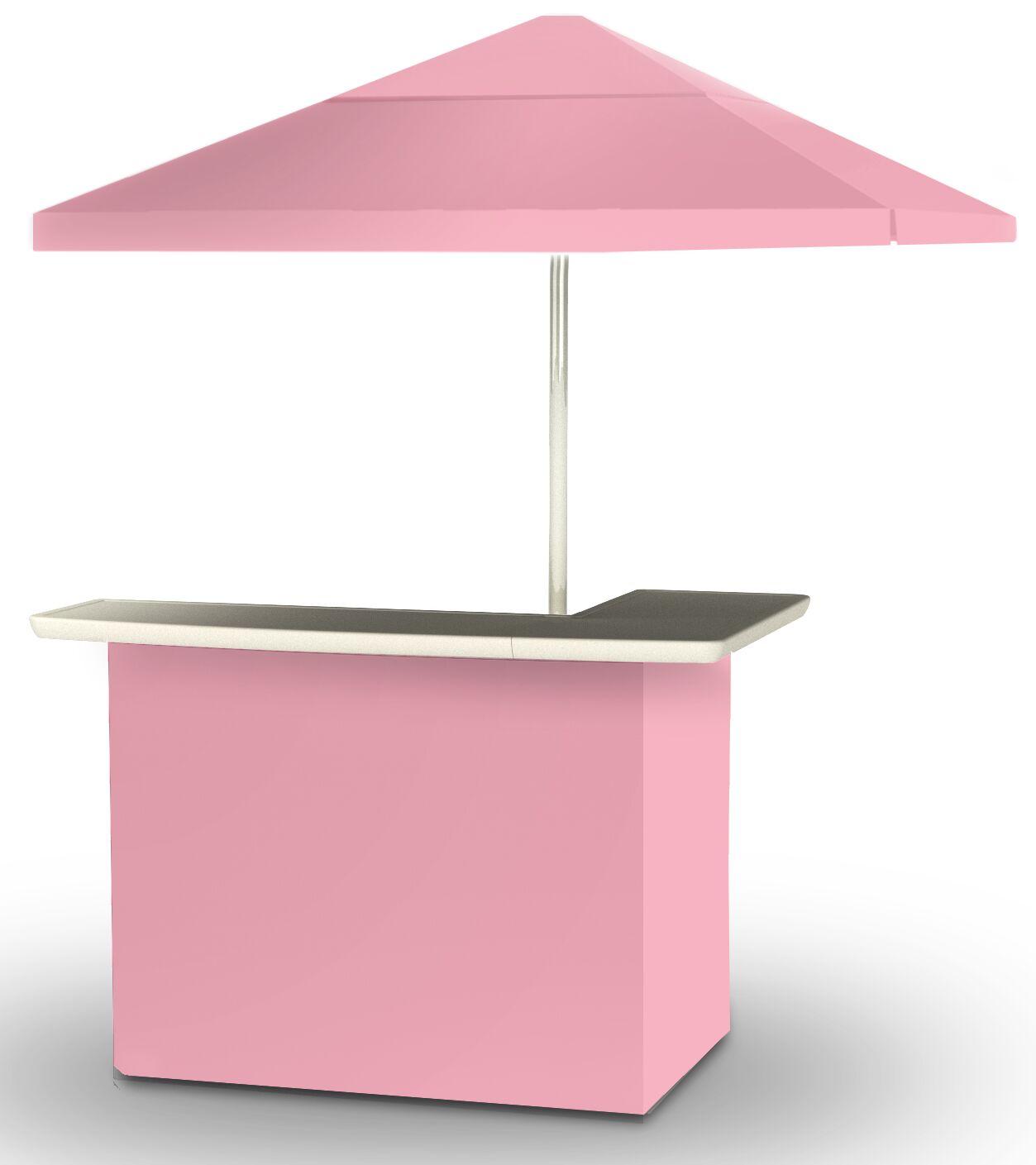 2 Piece Patio Home bar Finish: Pink