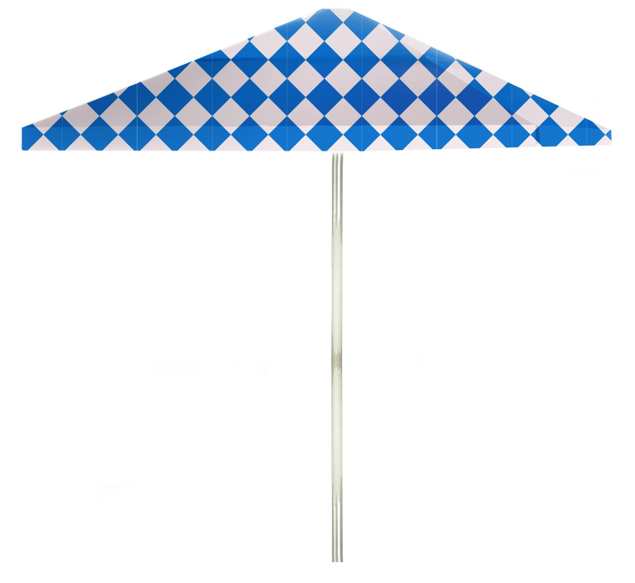 6' Square Market Umbrella Color: Royal Blue/White