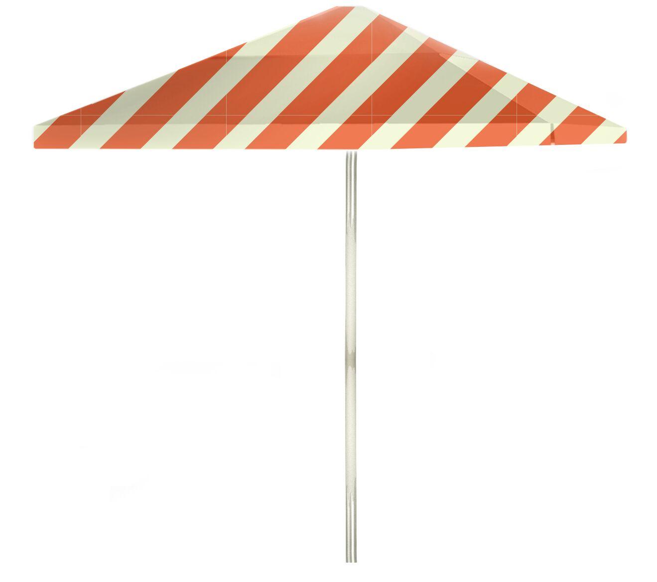 6' Square Market Umbrella Color: Orange/Sherbet