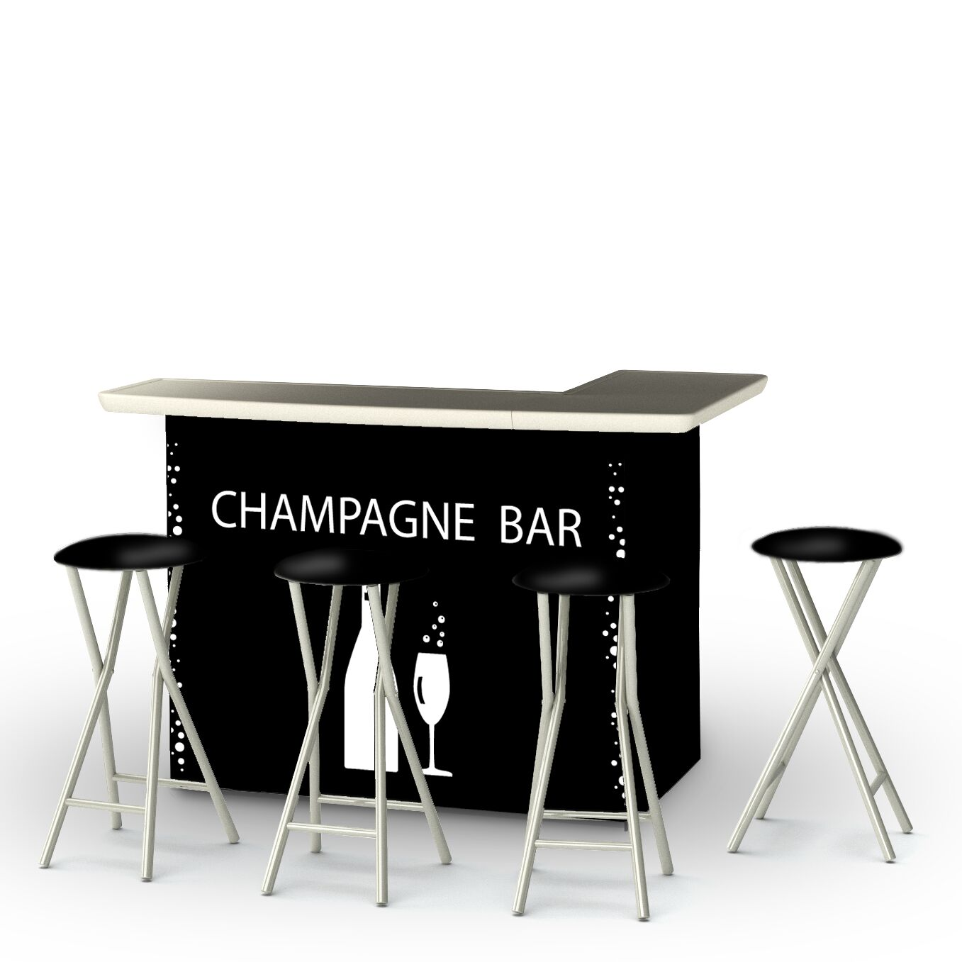 Champagne 7 Piece Bar Set