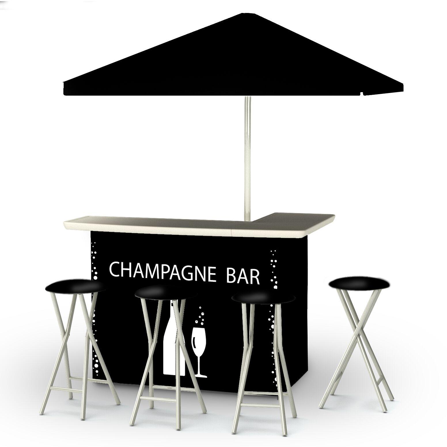 Champagne 8 Piece Bar Set