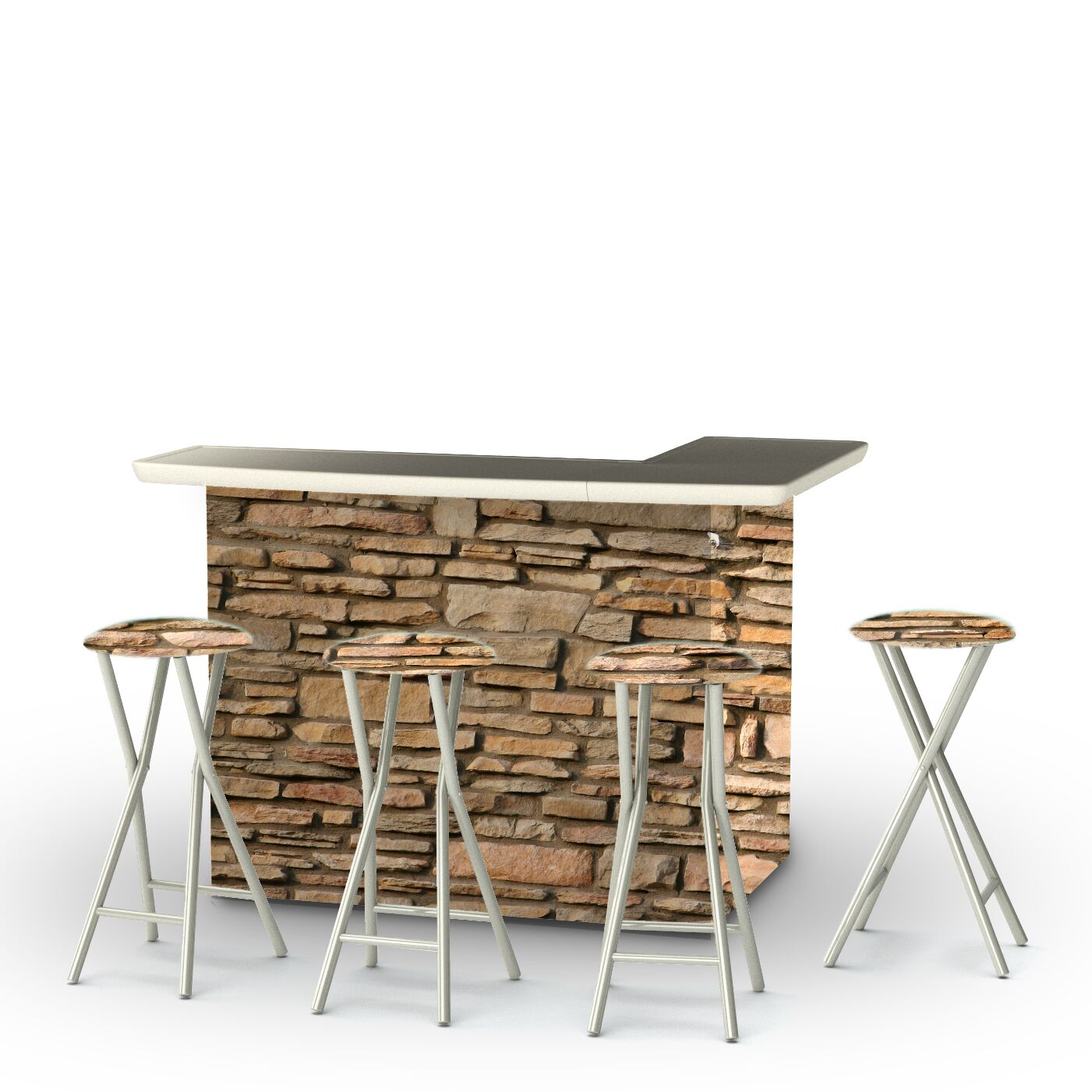 Rock Wall 7 Piece Bar Set
