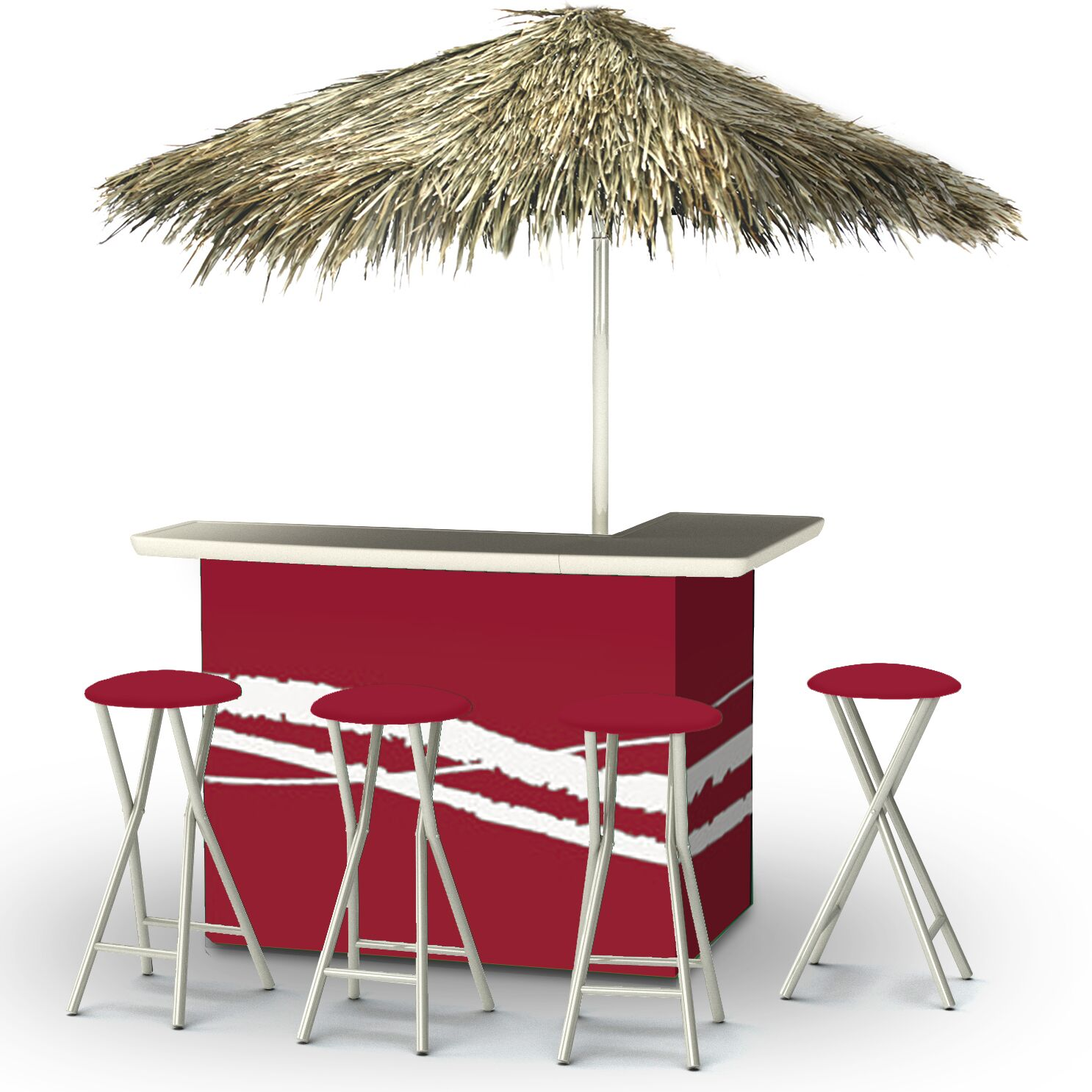 Tiki Bar Set Finish: Burgundy