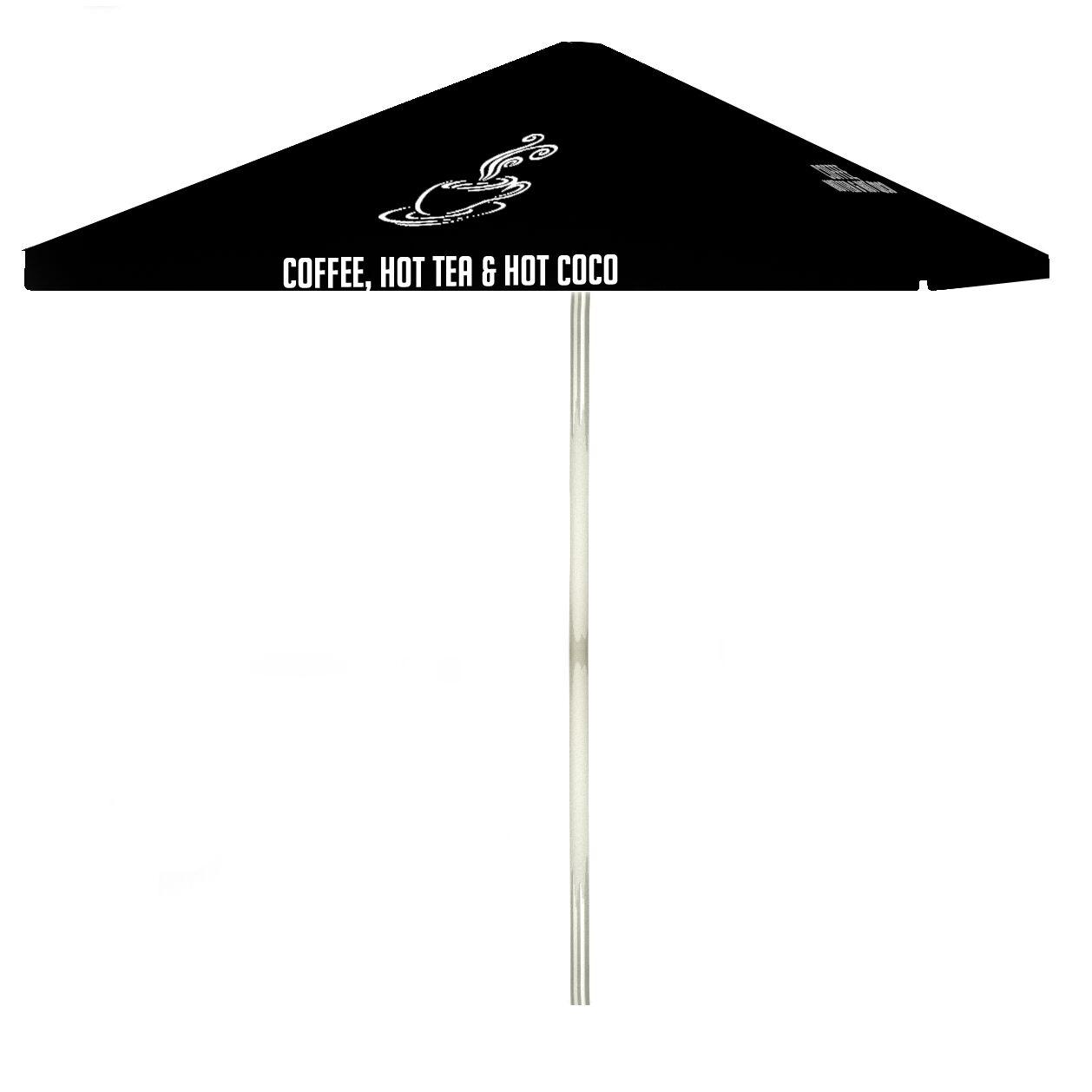 Coffee 6' Square Market Umbrella Color: Black