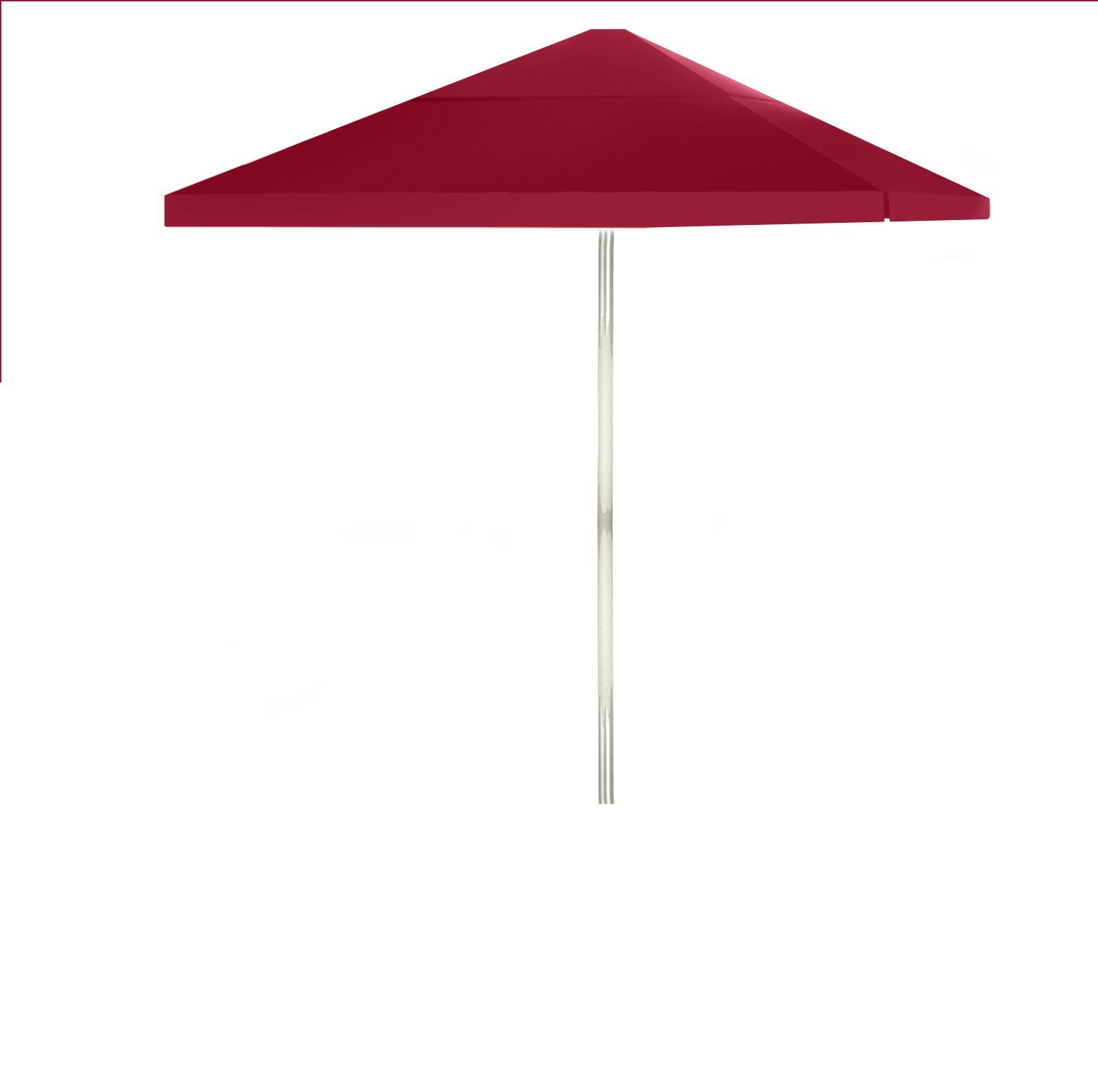6' Square Market Umbrella Color: Burgundy
