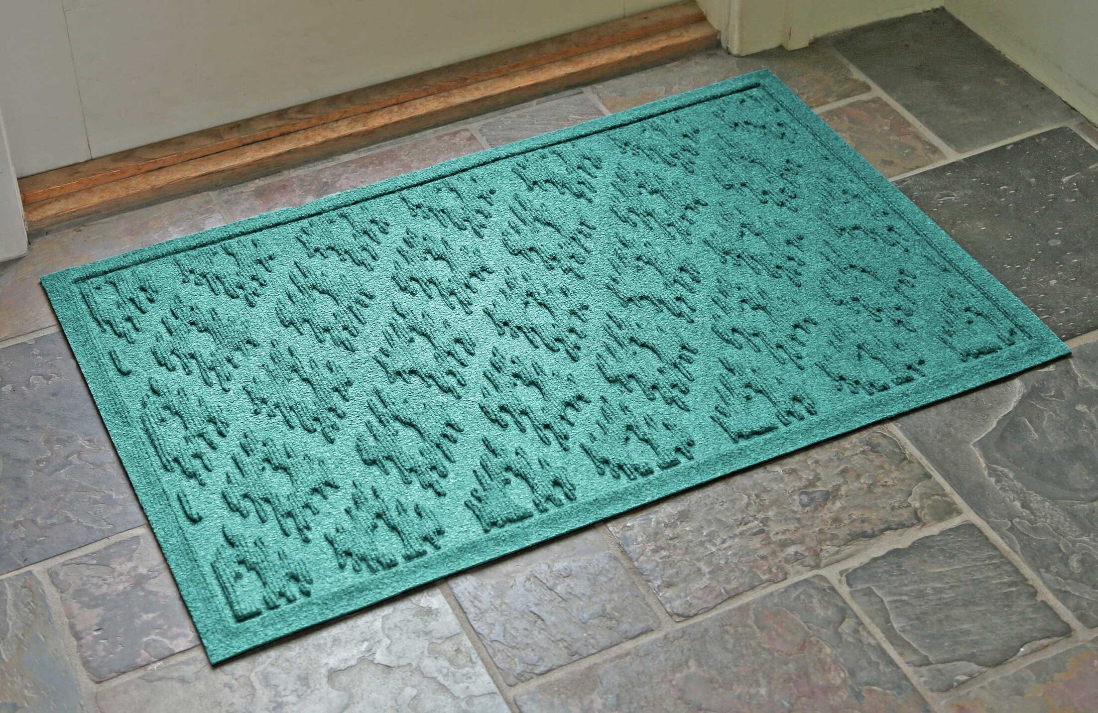 Aqua Shield Ikat Doormat Color: Charcoal, Mat Size: Rectangle 22' x 3'1