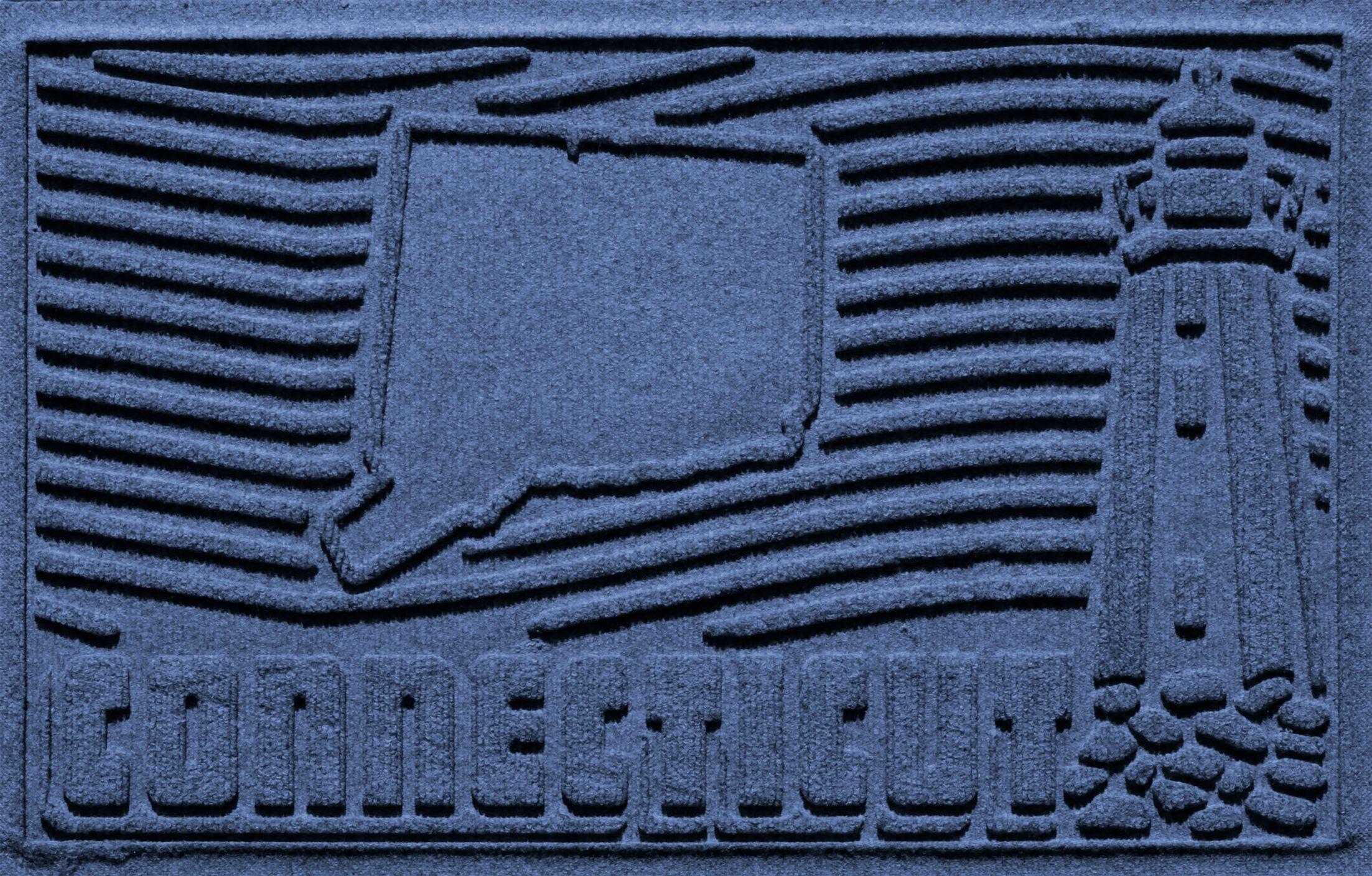 Aqua Shield Connecticut Doormat Color: Navy