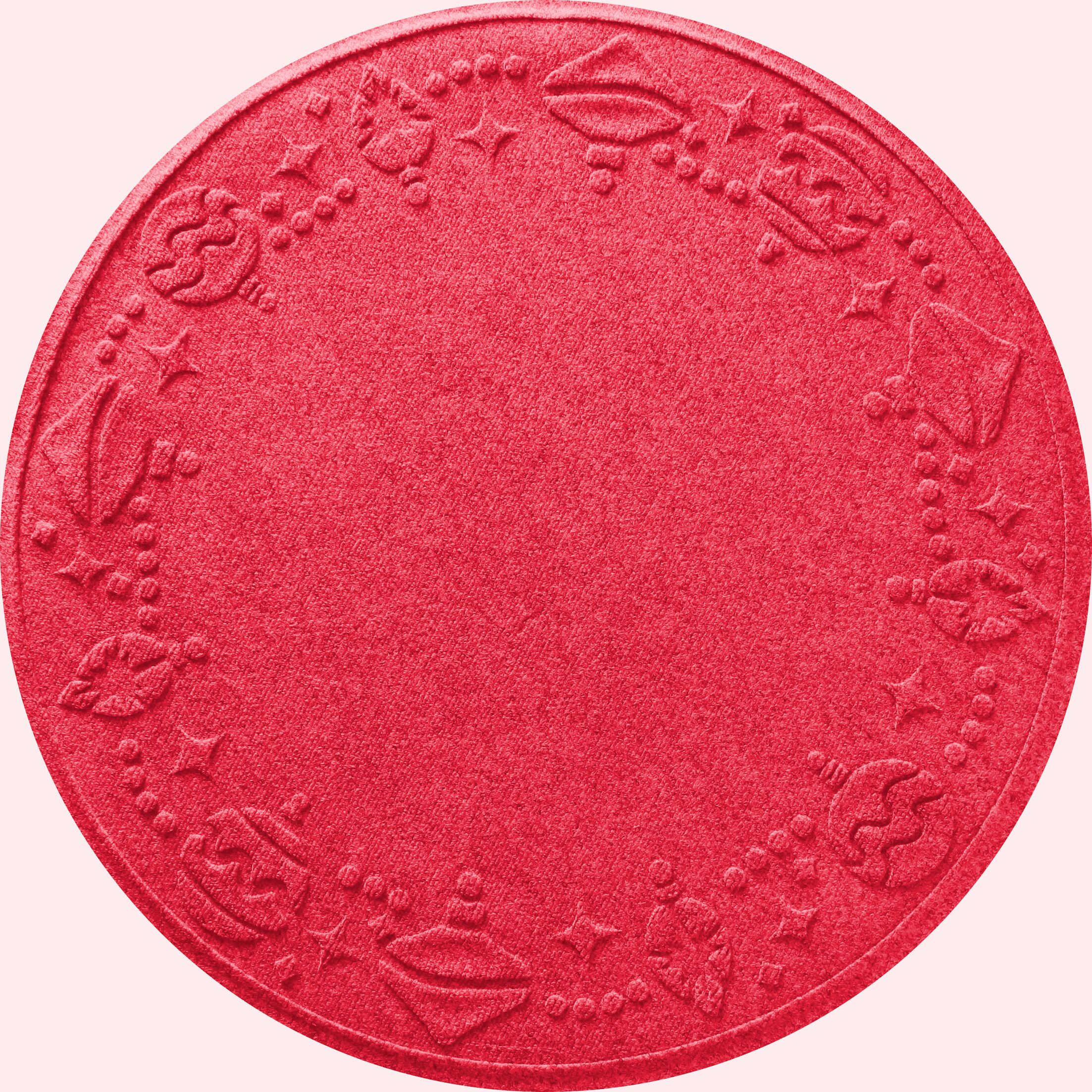 Ornaments Doormat Color: Solid Red