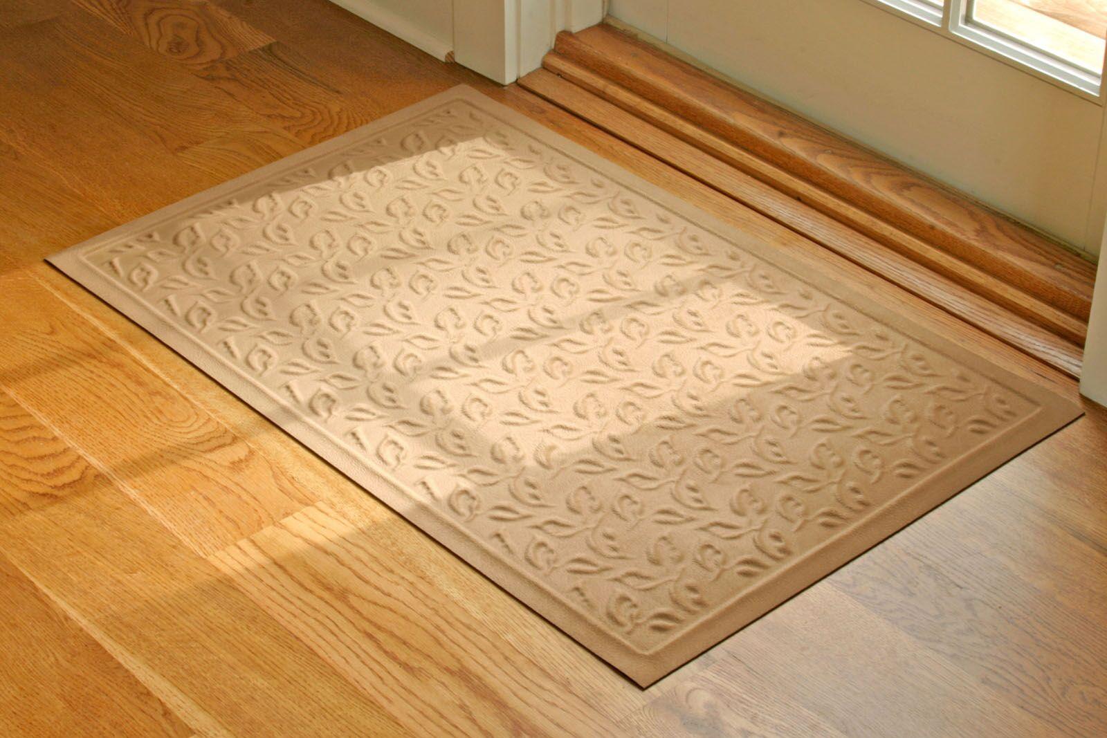 Soft Impressions Dogwood Leaf Doormat Mat Size: Runner 2'5