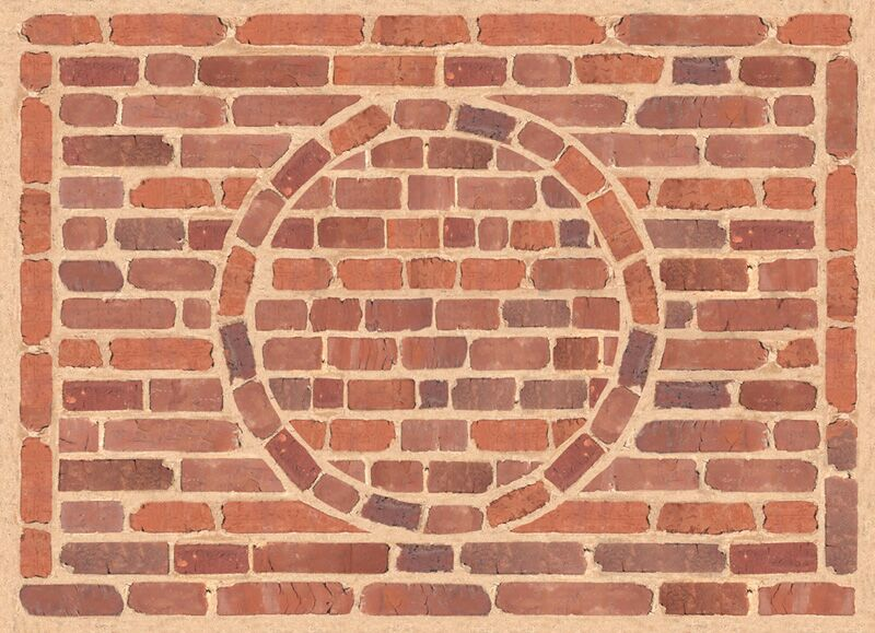 Fo Flor Framed Brick Doormat Mat Size: 46