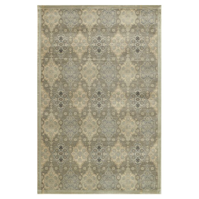 Keever Gray/Ivory Area Rug Rug Size: Rectangle 5' x 7'6
