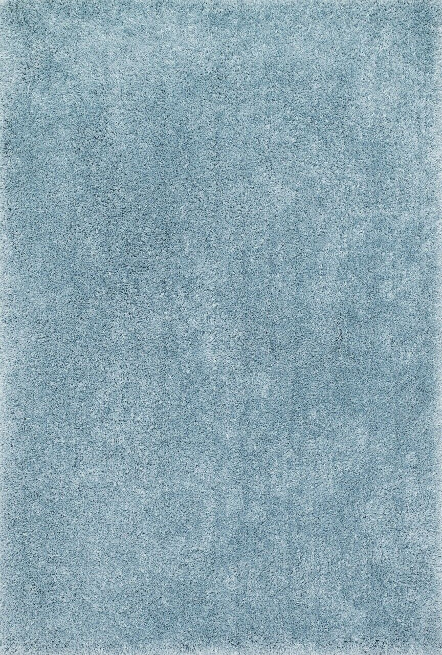 Chontos Hand-Tufted Light Blue Area Rug Rug Size: Rectangle 9'3