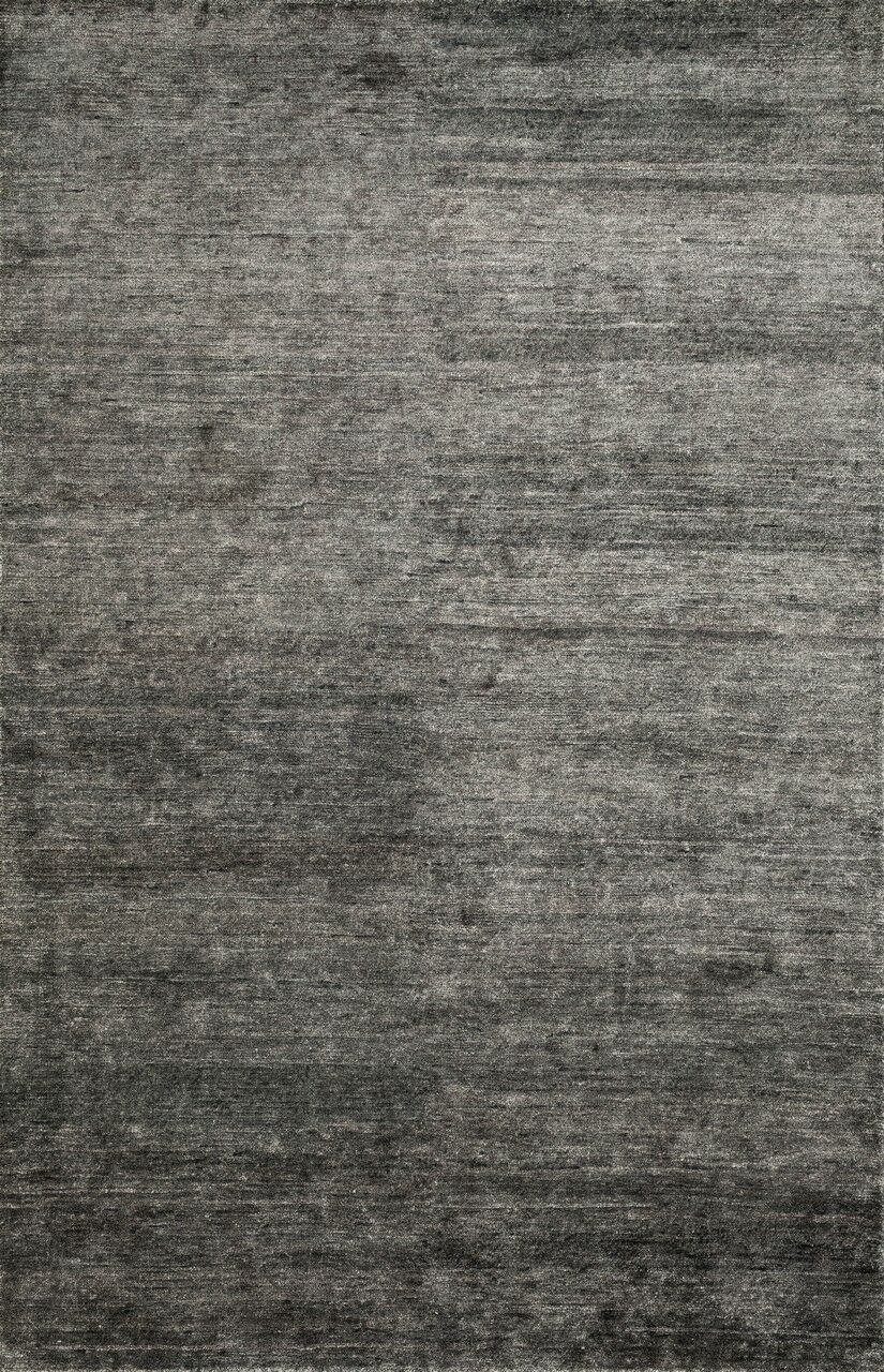Hively Hand-Knotted Black/Gray Area Rug Rug Size: Rectangle 7'9