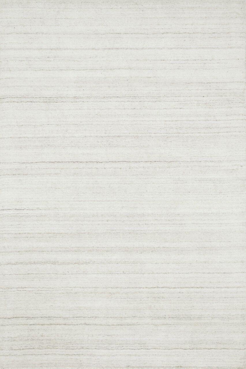 Bedenbaugh Hand-Loomed Ivory Area Rug Rug Size: Rectangle 3'6