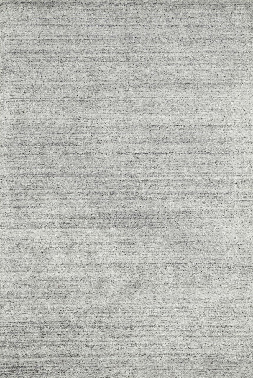 Nugent Hand-Woven Silver Area Rug Rug Size: Rectangle 9'3