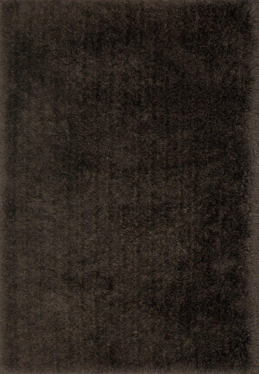 Hersi Hand-Tufted Chocolate Area Rug Rug Size: Rectangle 9'3