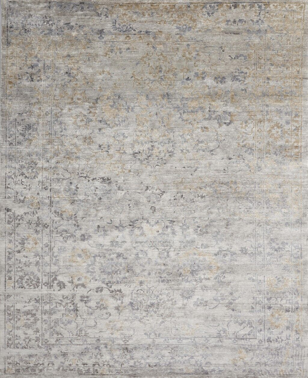 Leffel Hand-Knotted Gray Area Rug