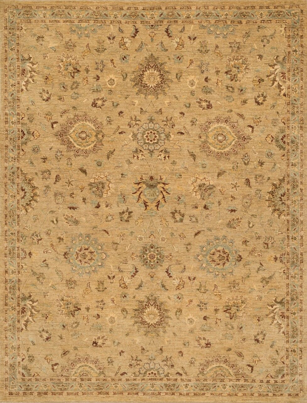 Durden Hand-Knotted Brown Area Rug Rug Size: Rectangle 7'9