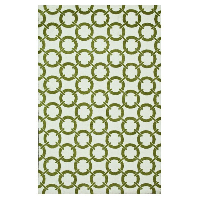 Dane Green/Ivory Area Rug Rug Size: Rectangle 5' x 7'6