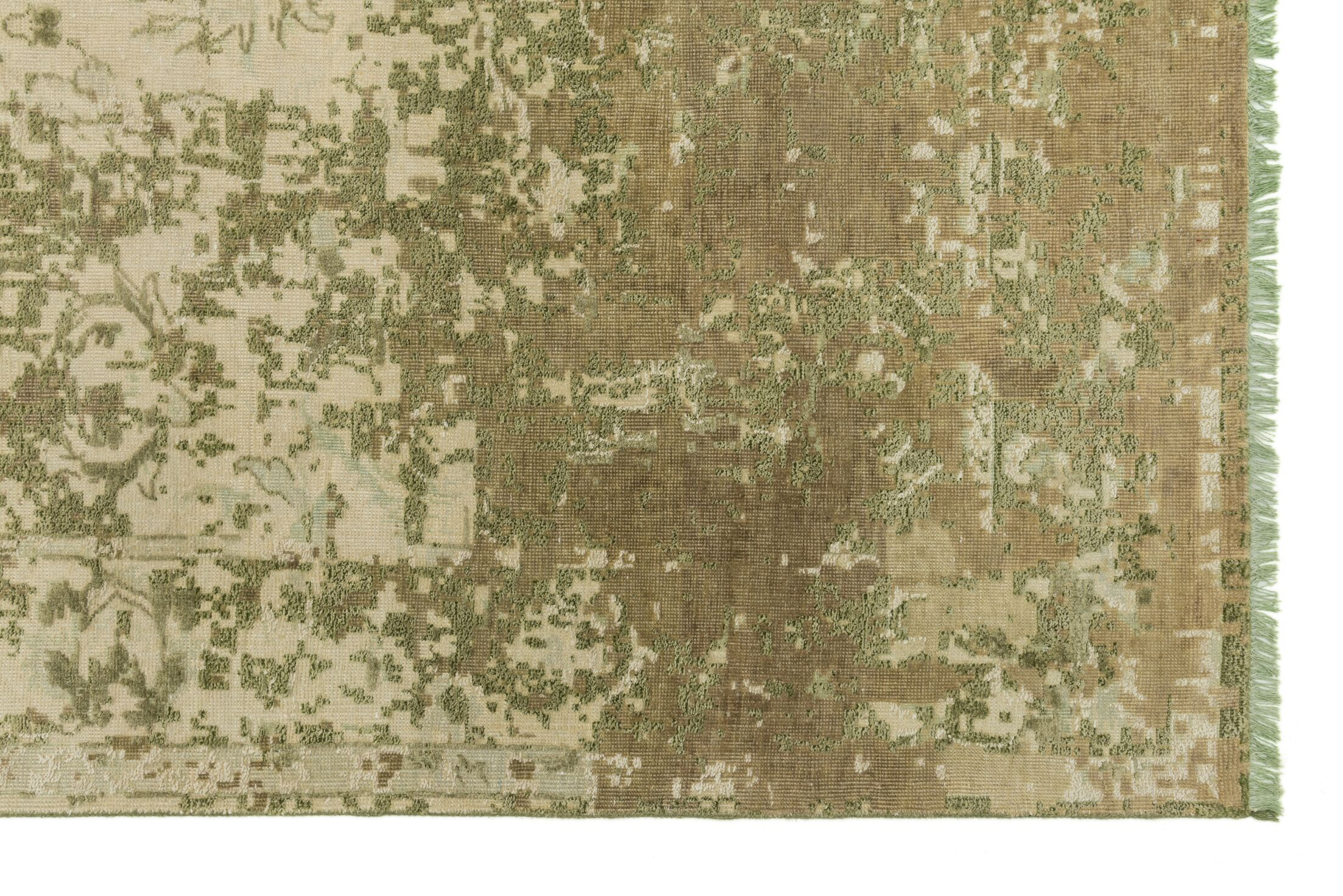 Keithley Hand-Knotted Sage Area Rug Rug Size: Rectangle 10' x 13'6