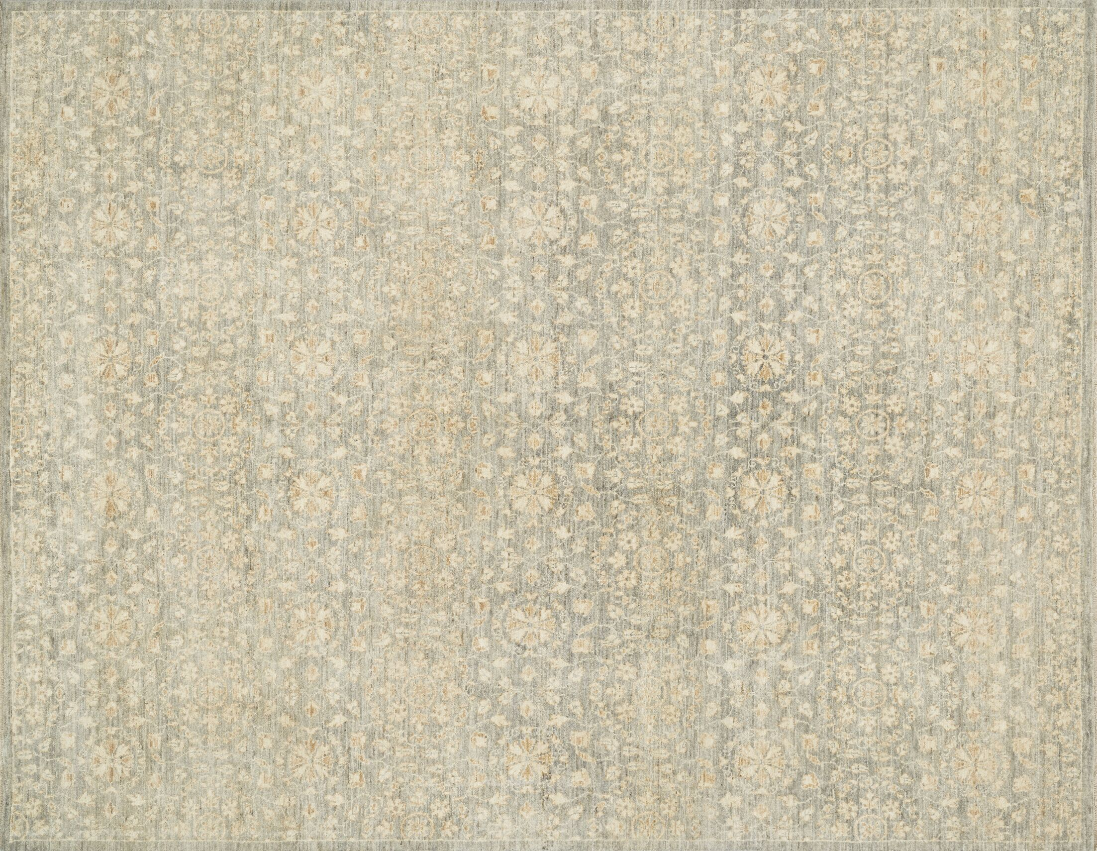 Claussen Hand-Woven Limestone Area Rug Rug Size: Rectangle 2' x 3'
