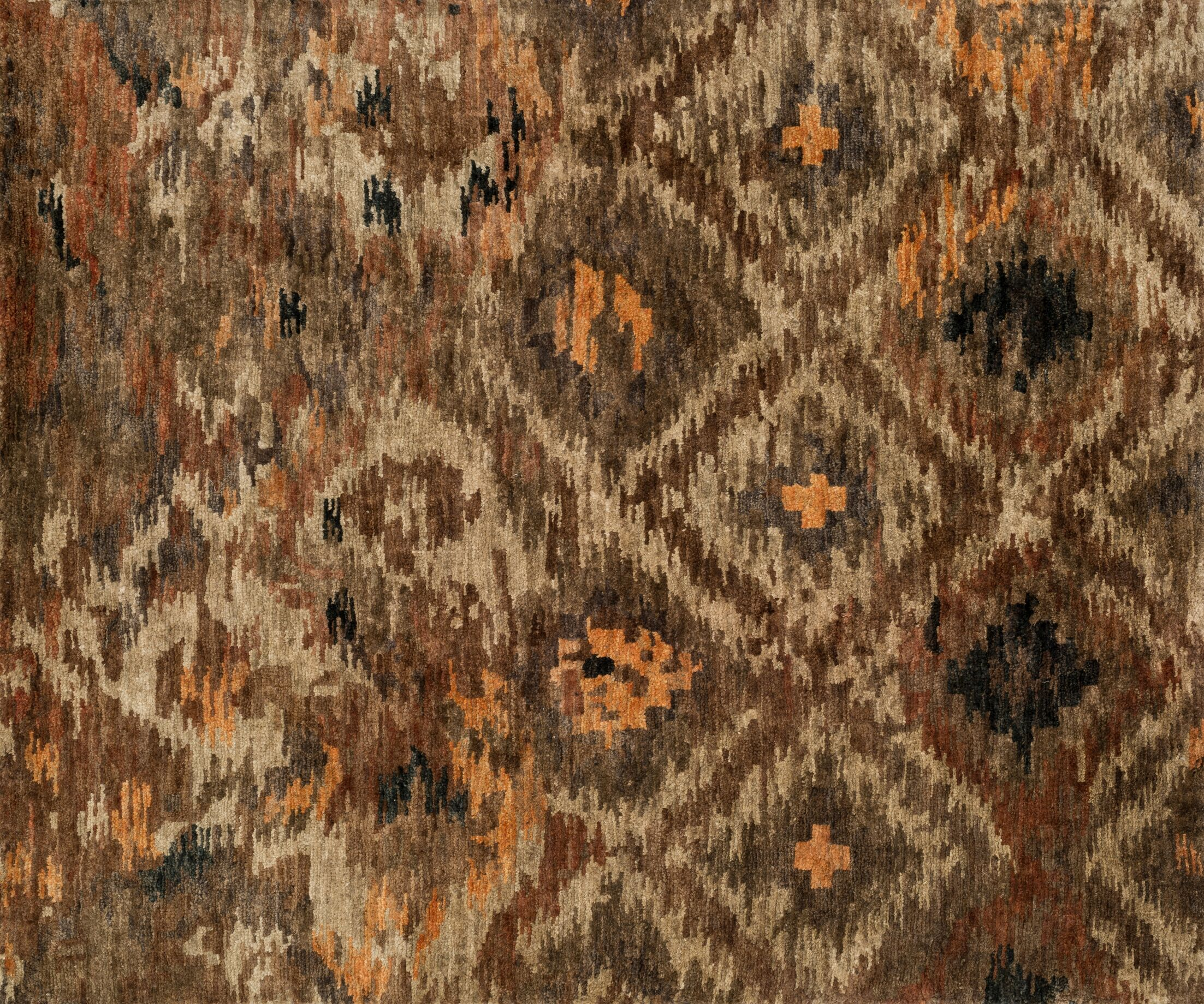 Zakrzewski Rustic Hand-Knotted Brown Area Rug Rug Size: Rectangle 8'6
