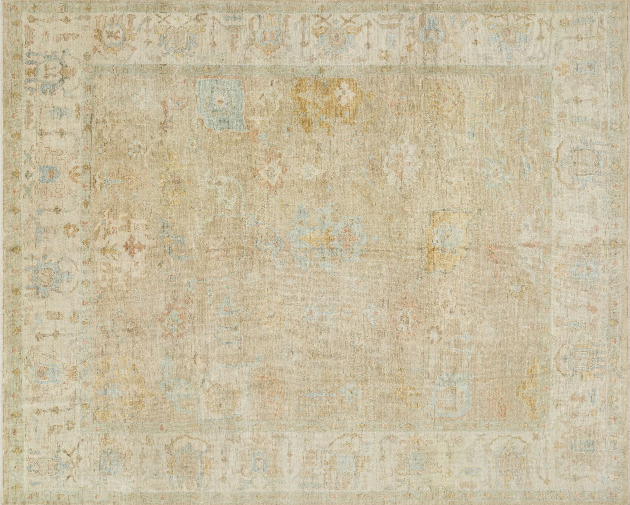 Abelard Hand-Knotted Beige Area Rug Rug Size: Rectangle 4' x 6'