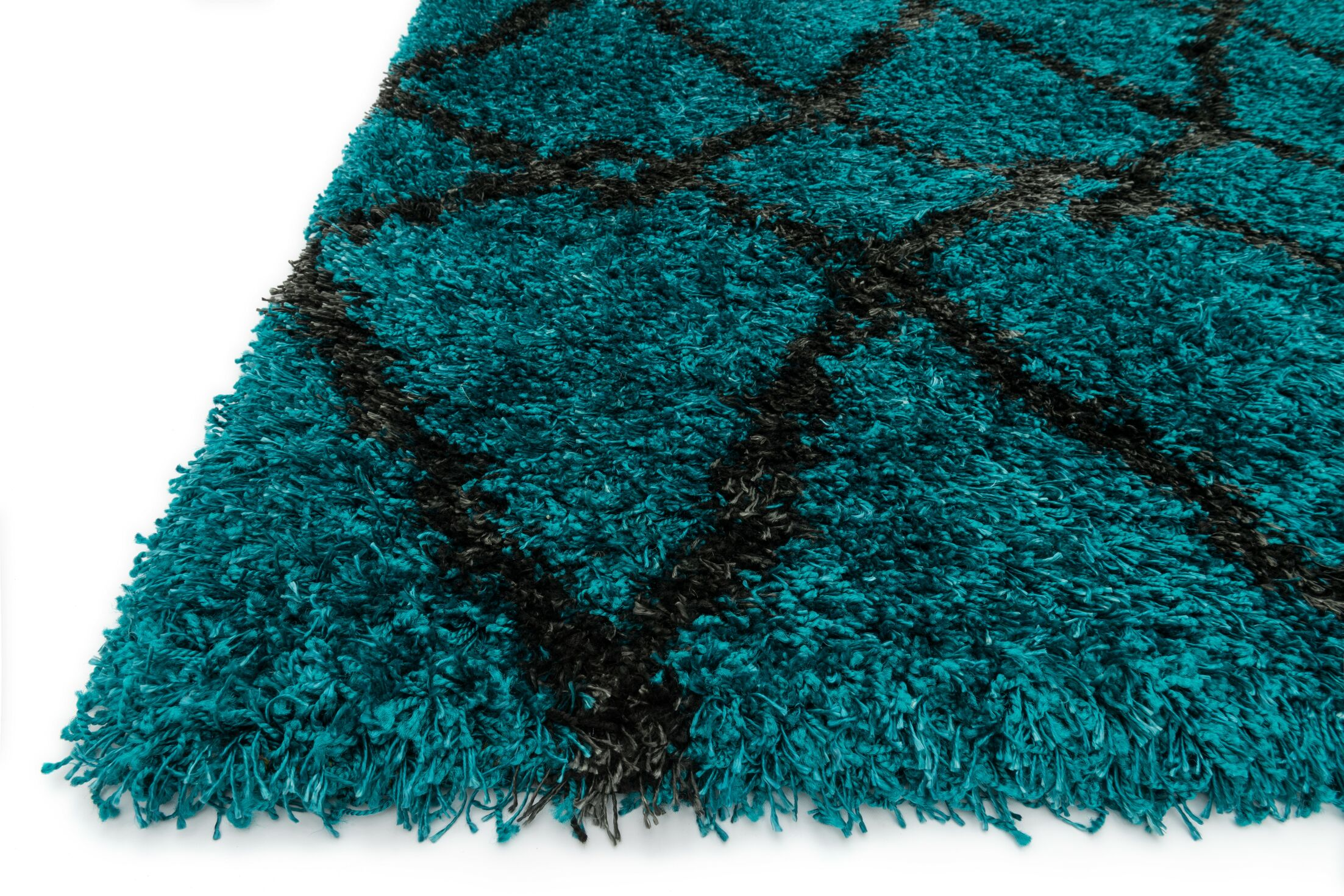 Nalder Blue/Charcoal Area Rug Rug Size: Rectangle 3'9