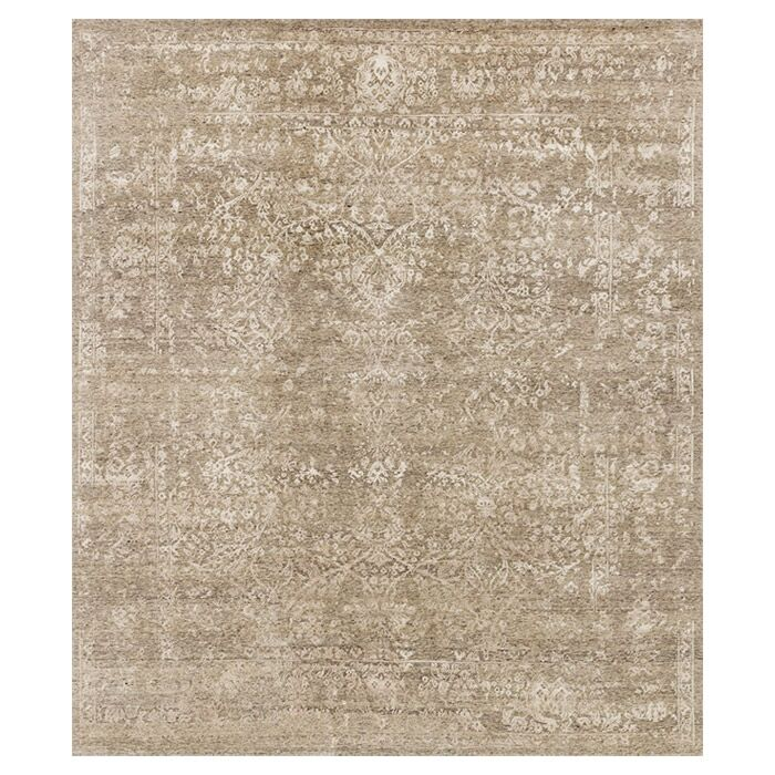 Colson Hand-Knotted Stone/Pewter Area Rug Rug Size: Rectangle 9'6