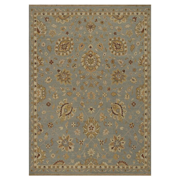 Keiser Hand-Knotted Sterling Blue Area Rug Rug Size: Rectangle 5'6