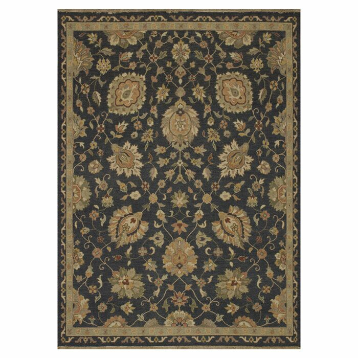 Keiser Hand-Woven Charcoal/Brown Area Rug Rug Size: Rectangle 5'6