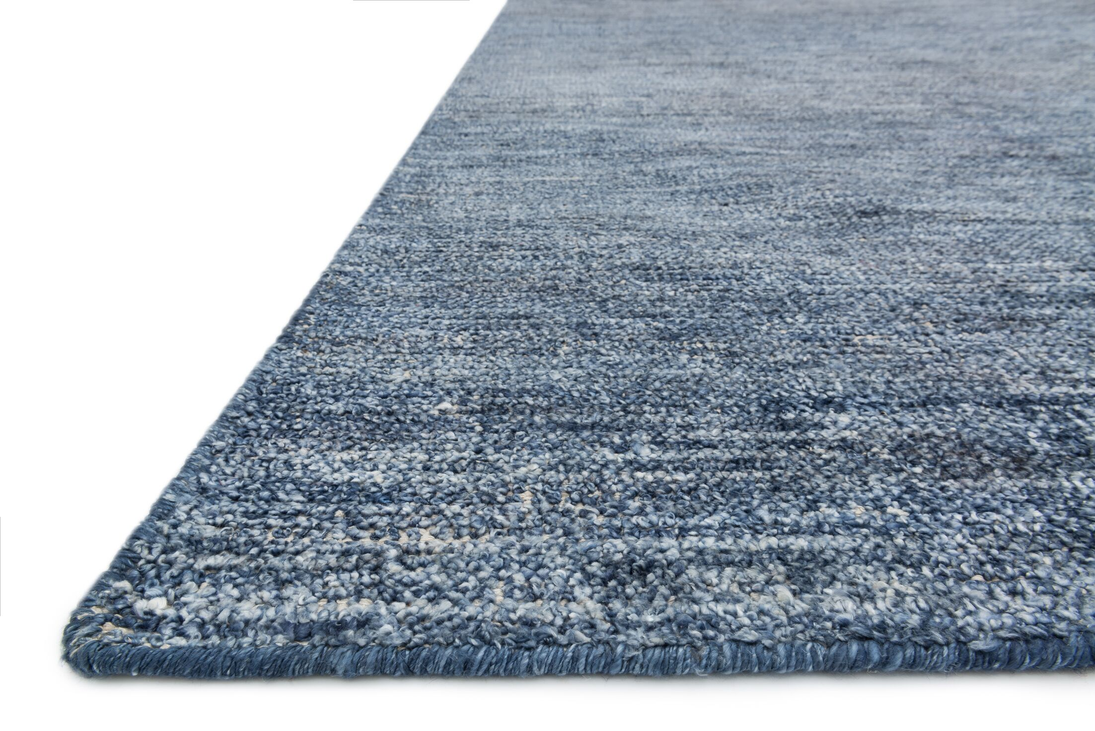 Jeffress Knotted Blue Area Rug Rug Size: Rectangle 2' x 3'