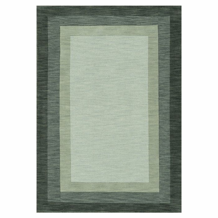 Keifer Hand-Tufted Slate Area Rug Rug Size: Rectangle 9'3