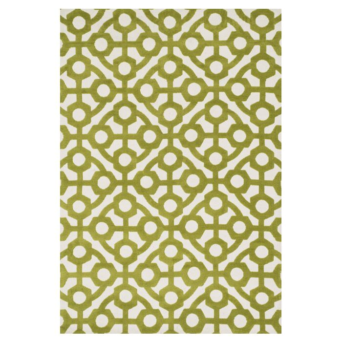 Mazurek Green Area Rug Rug Size: Rectangle 7'6