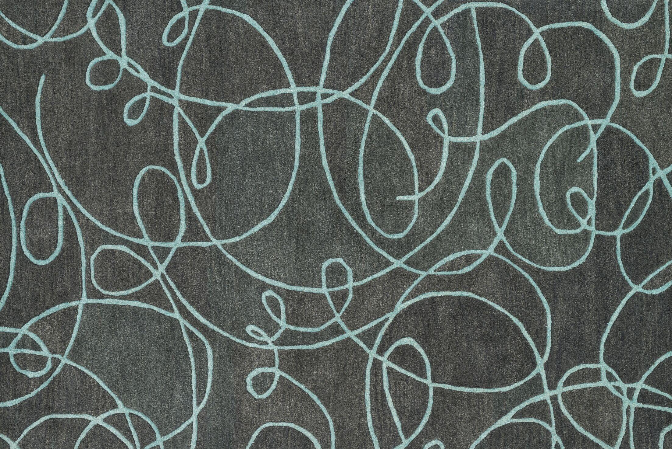 Earnhart Gray/Mist Area Rug Rug Size: Rectangle 3'6
