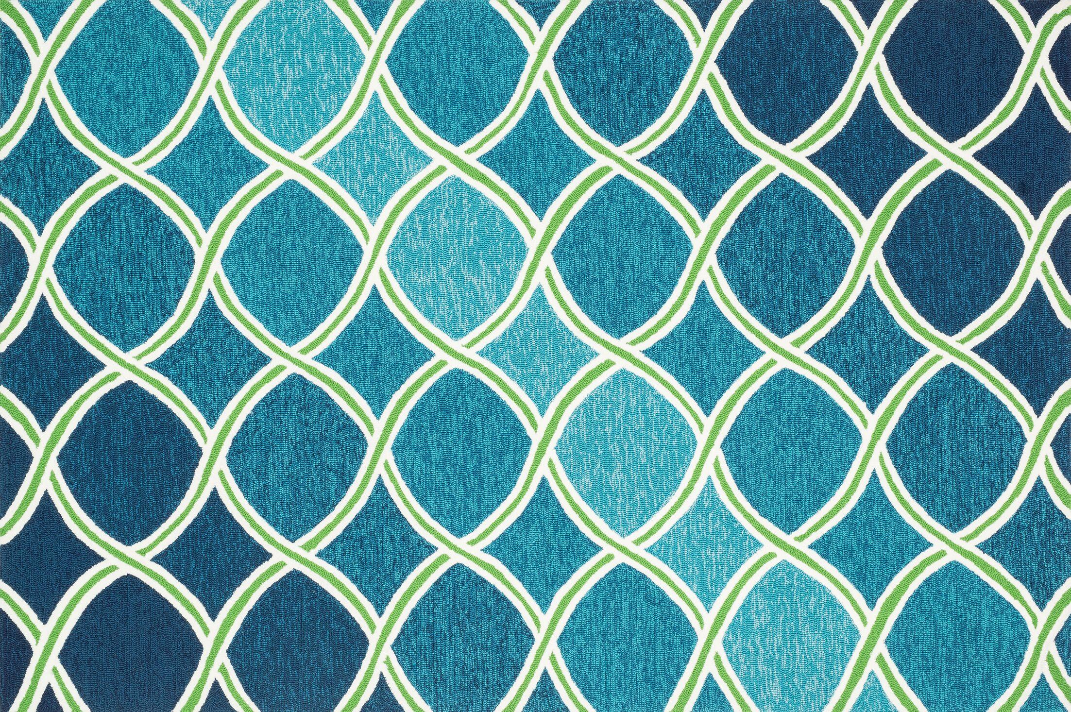 Danko Blue Indoor/Outdoor Area Rug Rug Size: Rectangle 5' x 7'6