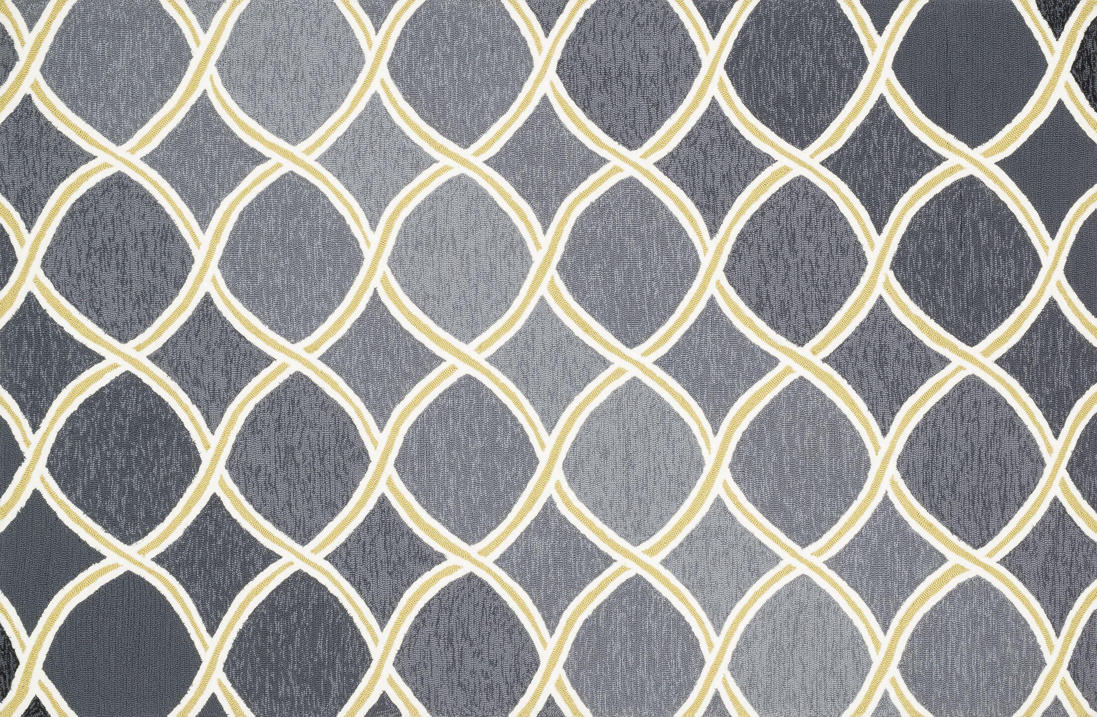 Danko Charcoal/Lime Area Rug Rug Size: Rectangle 7'6