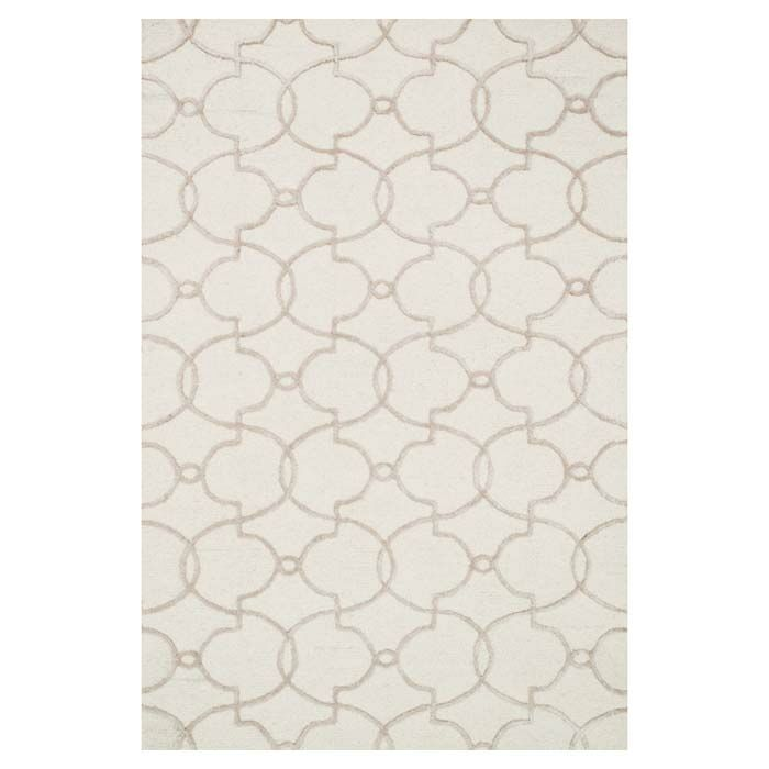 Kirkbride Ivory Area Rug Rug Size: Rectangle 3'6