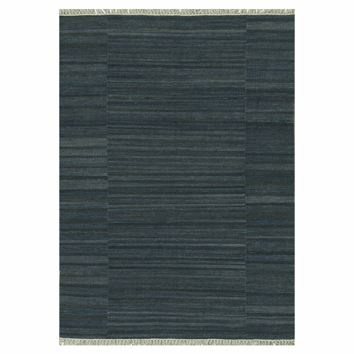 Barret Hand-Woven Charcoal Area Rug Rug Size: Rectangle 5' x 7'6