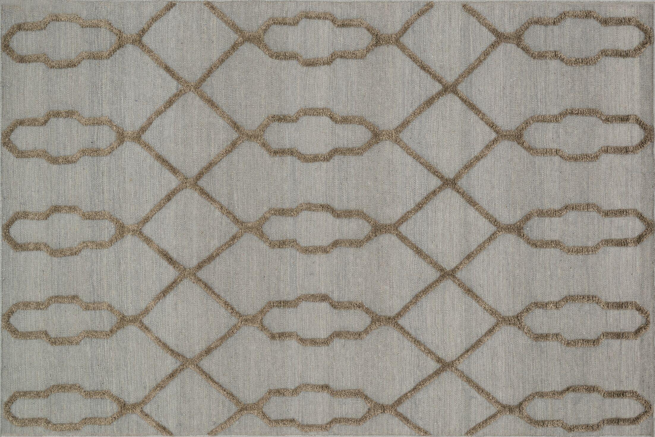 Mazur Hand-Woven Slate Area Rug Rug Size: Rectangle 3'6