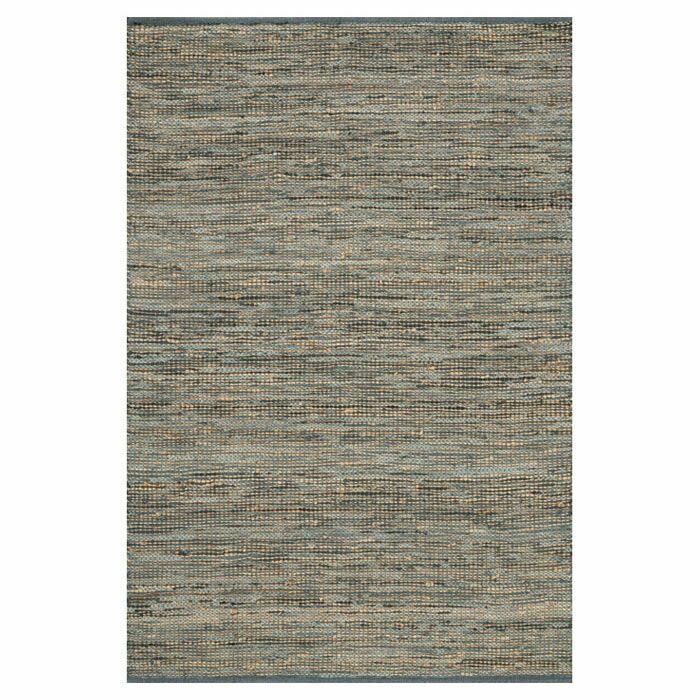 Kirkley Hand-Woven Gray Area Rug Rug Size: Rectangle 5' x 7'6
