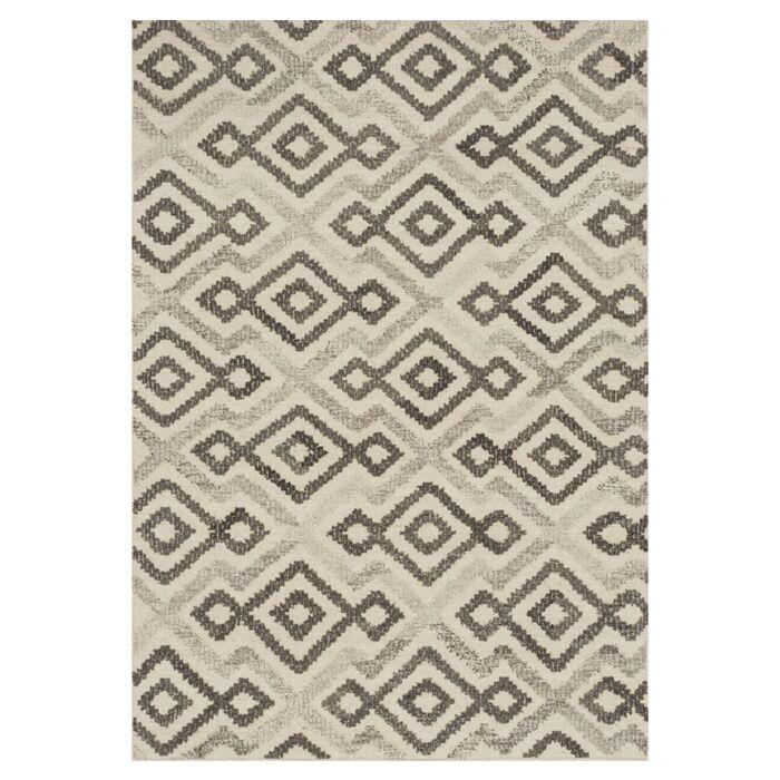 Bentleyville Ivory/Gray Area Rug Rug Size: Rectangle 7'9