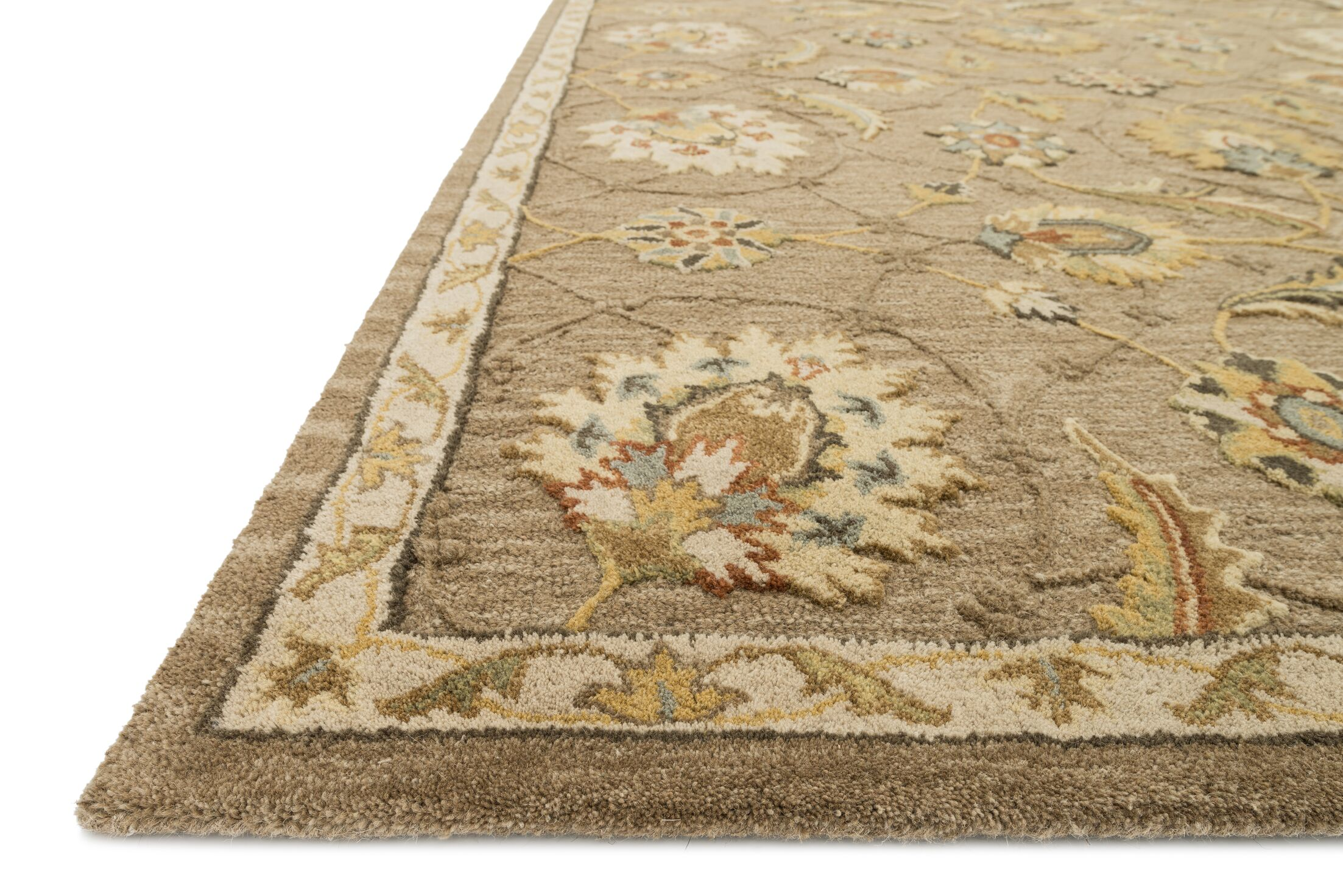 Kegler Mocha/Beige Area Rug Rug Size: Rectangle 9'3