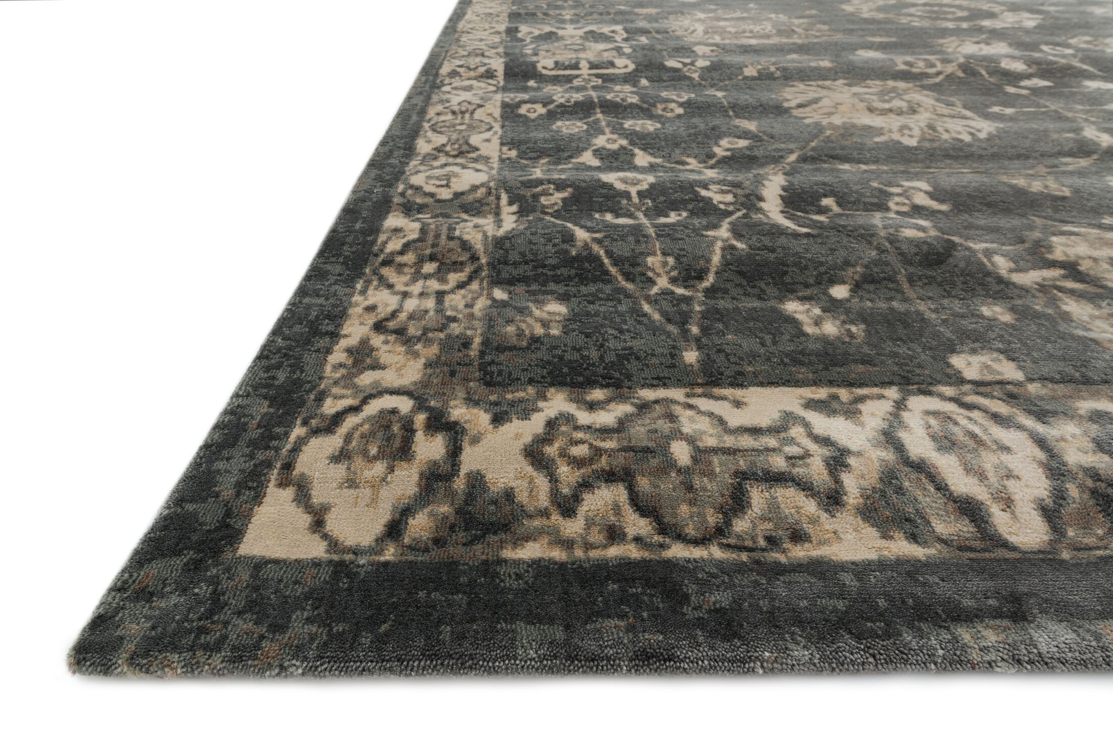 Keever Charcoal/Beige Area Rug Rug Size: Rectangle 3'3